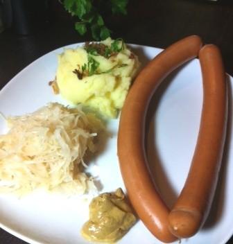 Frankfurter Würstchen Sauerkraut Foodblog German Abendbrot