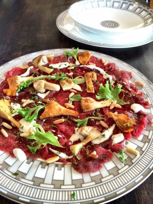 Carpaccio Rinderfilet frische Pilze Foodblog German Abendbrot