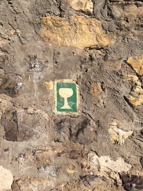 Symbol der Riesling-Route, einem wunderschönen Wanderweg