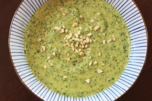 Vegetarischer Brotaufstrich hausgemacht Petersilie Mandeln Foodblog German Abendbrot