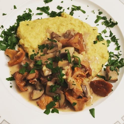 Pilze Polenta Parmesan Foodblog German Abendbrot
