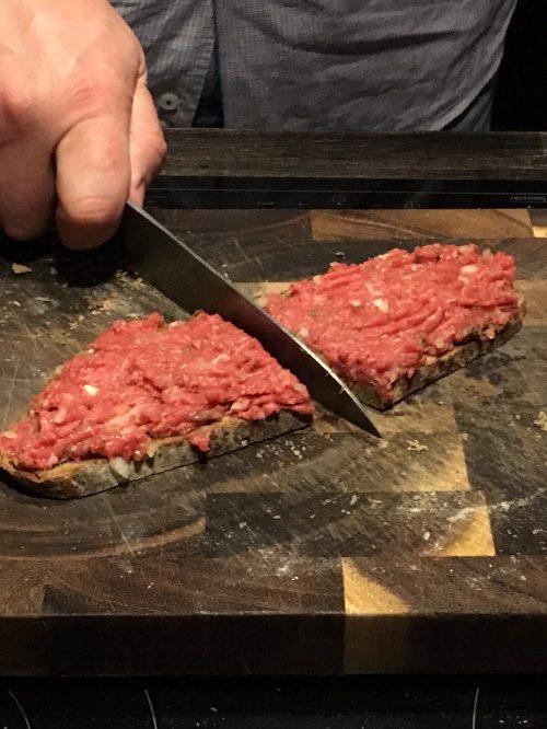 Steak Tartare Tatar Rindfleisch angemacht Foodblog German Abendbrot